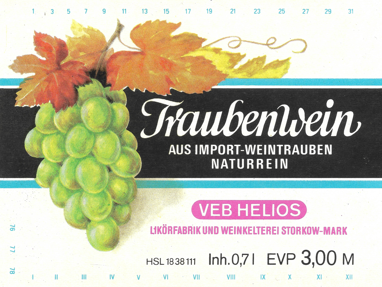 """Traubenwein-Etikett"""""""